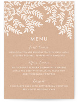 Leaves and Kraft Menu Cards