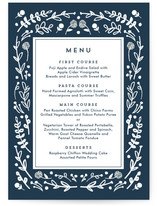 Floral Frame Square Menu Cards