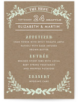Ampersand Floral Menu Cards
