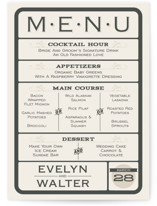 A Blessed Union Menu Cards