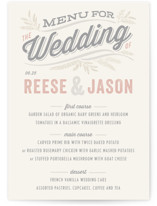 Rustic Charm Menu Cards