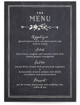Alabaster Florals Menu Cards