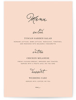 Estate Menu Cards