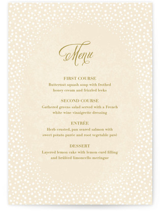 Baby's Breath Menu