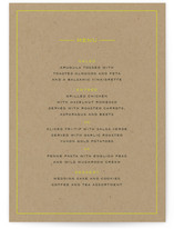 Vintage Kraft Menu Cards