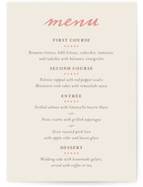 Delicate Ampersand Menu Cards