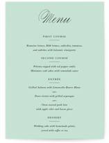 Notable Menu Cards