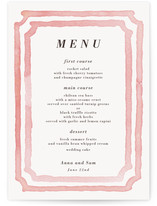 Watercolor Frame Menu Cards