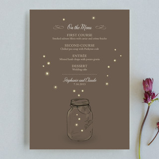 Fireflies Menu Cards