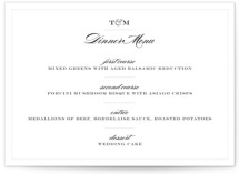 Charming Go Lightly Menu Cards