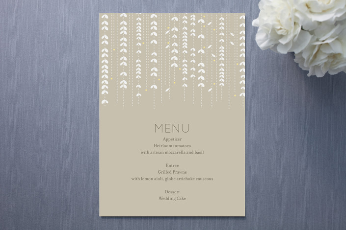 """""""WILLOW TREE"""" - Modern, Hand Drawn Menu Cards in Sand by sweet street gals."""