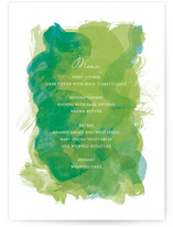 Aquarelle Menu Cards