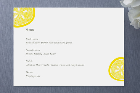 Lemon Drop Menu Cards