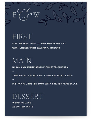 Forever Intertwined Menu