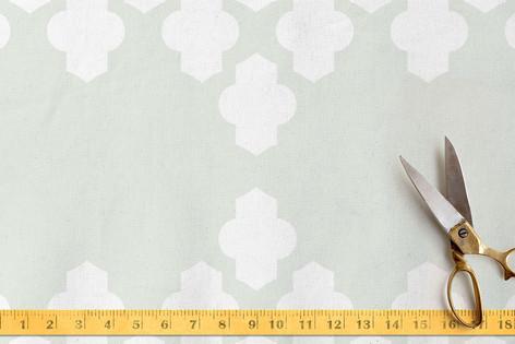 Foiled Arabesque Wedding Fabric
