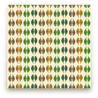Graphic Leaves Self-Launch Fabric