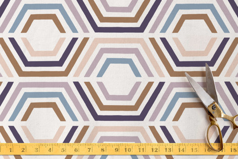 Divided Hexagons Fabric