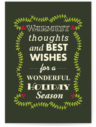 WARMEST THOUGHTS & BEST WISHES1 Self-Launch Cards