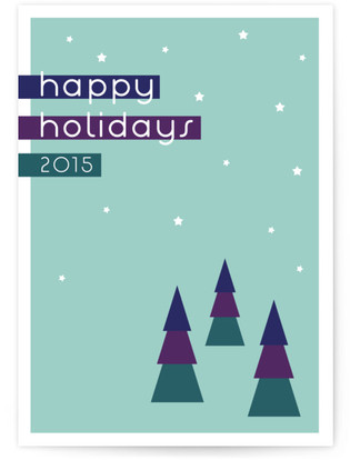 A Triangular Colorful Winter Scene Self-Launch Cards
