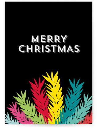 Merry Christmas & Leaves Self-Launch Cards