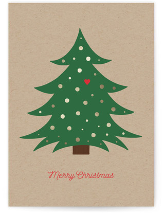 Merry Christmas Tree Self-Launch Cards