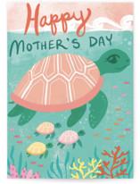 Sea Turtle and Babies by Charla Pettingill
