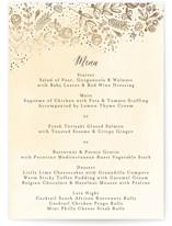 The Wedding Bouquet Foil-Pressed Menus