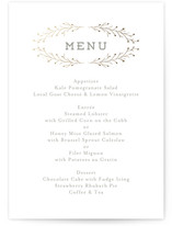 Wanderlust Wreath Foil-Pressed Menus