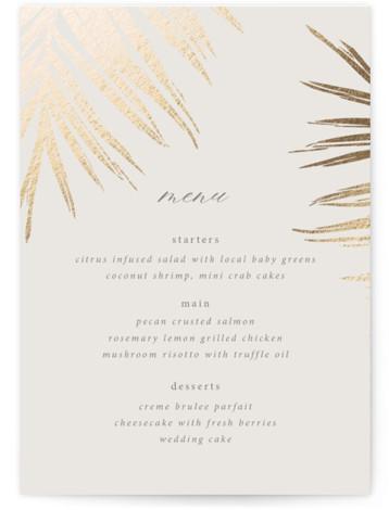Gilded Palm Foil-Pressed Menus