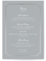 Classy Type Foil-Pressed Menus