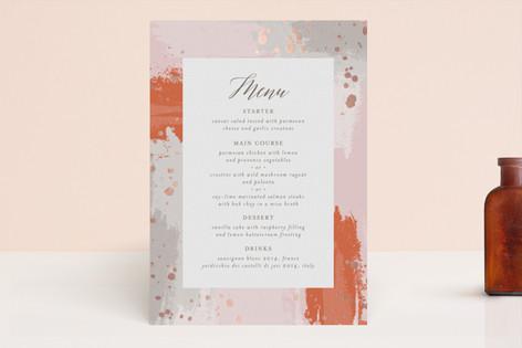 The Artist's Wedding Foil-Pressed Menus