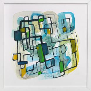 Homage to Miro II  Art Print