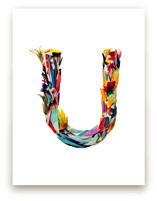 Collage letter U by Kiana Lee
