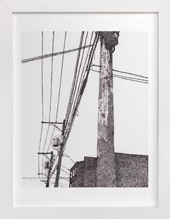 City In Dots No. 1  Art Print