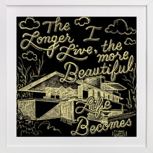 Beauty & Frank Lloyd Wright  Art Print