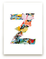 Collage letter Z by Kiana Lee