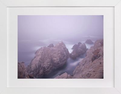 A foggy day in Point Lobos  Art Print