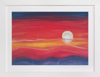 Red Sunset  Art Print
