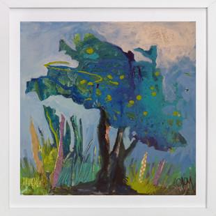 Mon arbre bleu  Art Print