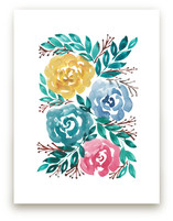 hand painted flowers_1H by aticnomar
