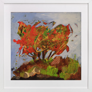 Petite foret orange  Art Print