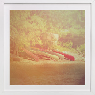 Lake Champlain Canoes  Art Print