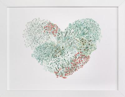Lichen Heart II  Art Print