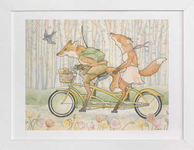 An Outing for Foxes  Art Print