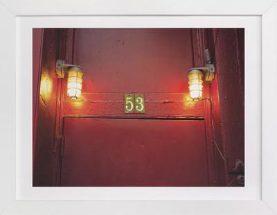 Red Door 53  Art Print
