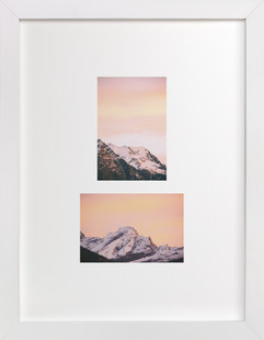 mountain study no.2 - sunset  Art Print