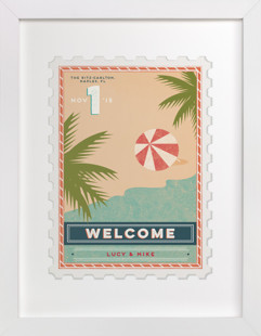 The Beach Wedding Sign - CUSTOM REQUEST  Art Print
