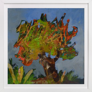 Son arbre orange  Art Print