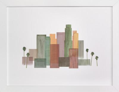 Skyline Los Angeles  Art Print