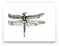 Dragonfly Monotype by Stephanie Toral